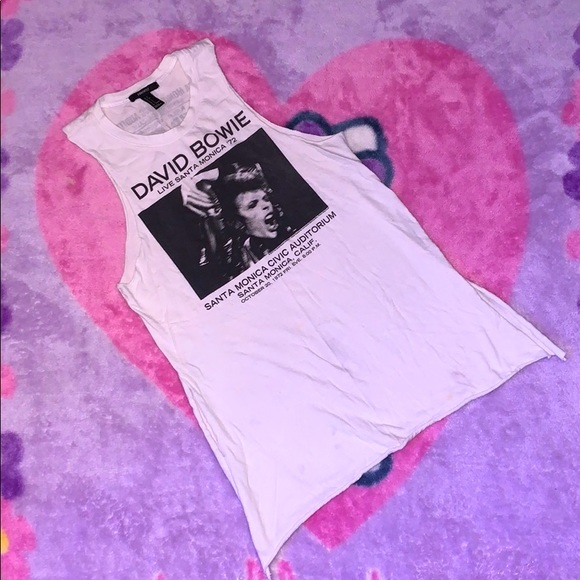 forever 21 David Bowie live band tank